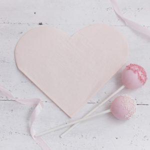 Roze servetten hart
