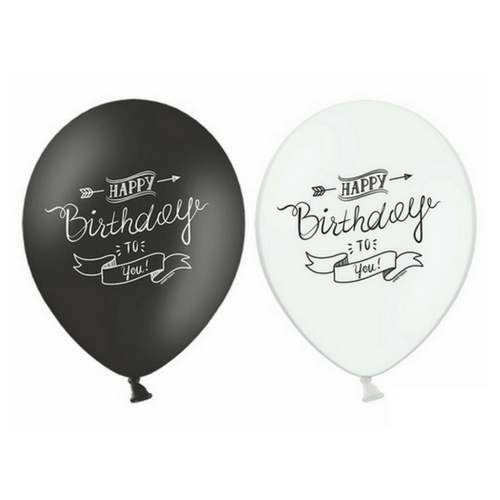 happy-birthday-ballonnen-black-white