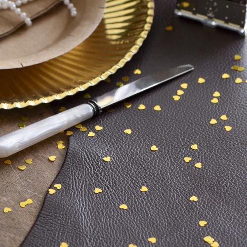 Hartjes glitter goud for Feestversiering goud