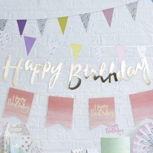 Slinger 'Happy Birthday' goud