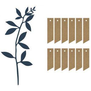 feest-artikelen-decoratiepakket-leaves-labels-navy-blue