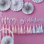 Happy Birthday slinger 'Iridescent Party'