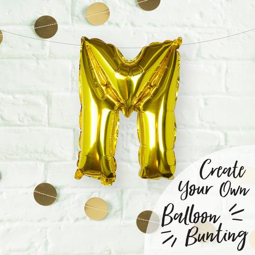 folieballon-goud-letter-m