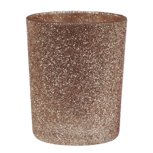 Waxinelichthouder glitter 'Koper'