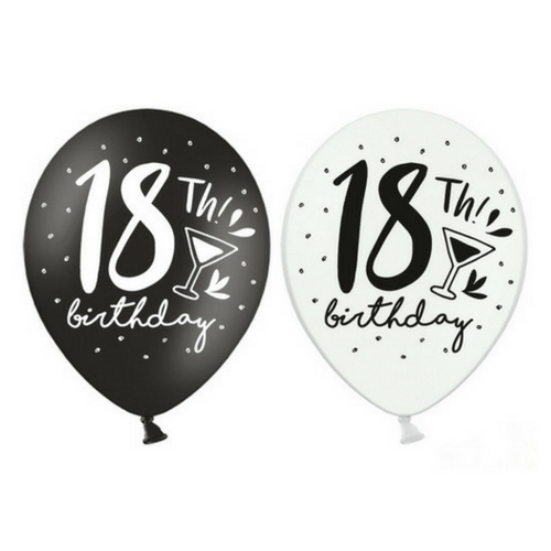 Ballonnen-18th-birthday-BlackWhite