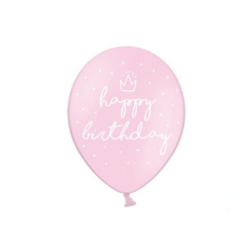 Ballonnen-Happy-Birthay-baby-roze