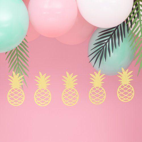feestartikelen-slinger-ananas