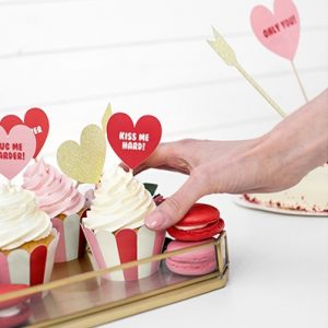 Cupcake toppers 'Sweet Love Gold'
