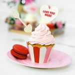 Cupcake wrappers 'Sweet Love' (6ST)