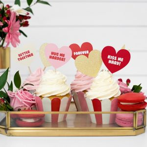 Cupcake toppers 'Sweet Love' tekst (6ST)