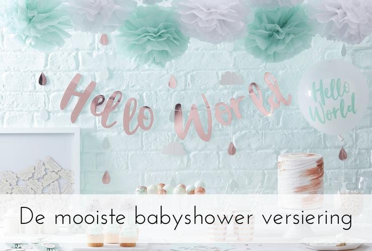 De leukste babyshower versiering