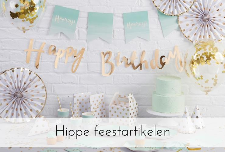 Hippe feestartikelen