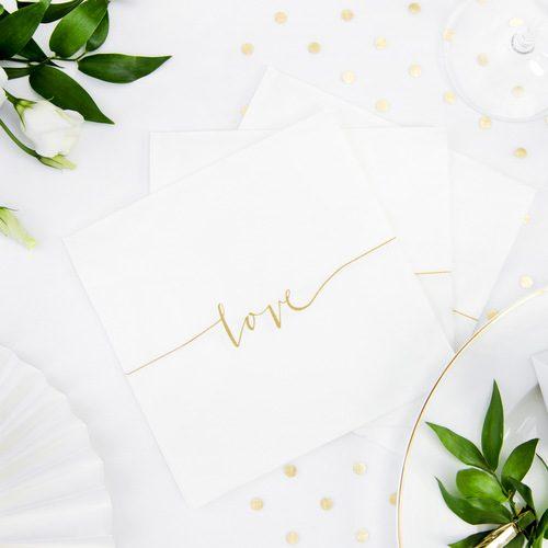 feestartikelen-servetten-wit-gold-love