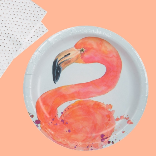papieren-bordjes-fancy-flamingo