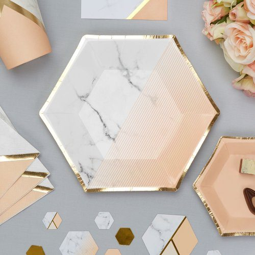 gebaksbordjes-colour-block-marble-peach