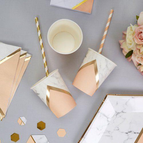 papieren-bekertjes-colour-block-marble-peach