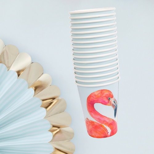 papieren-bekertjes-fancy-flamingo