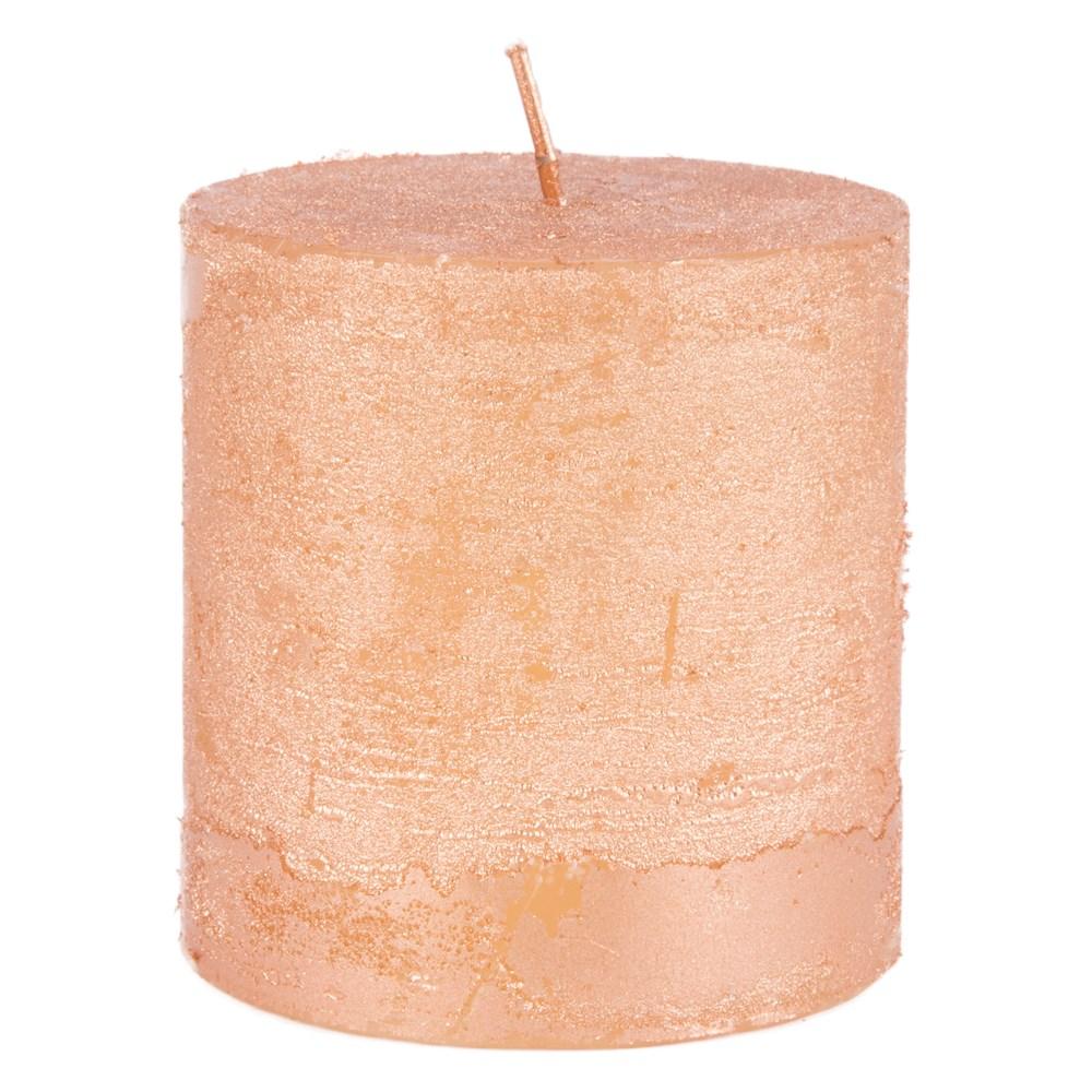 rustieke-kaars-copper-metallic-small