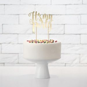 cake-topper-its-my-party-goud-3