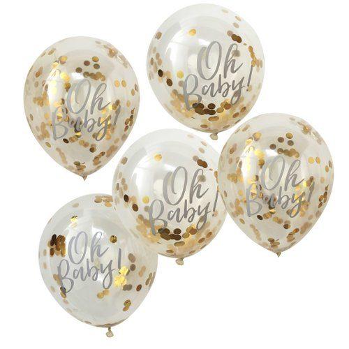 confetti-ballonnen-goud-oh-baby-2
