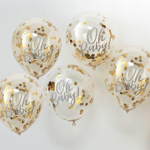 confetti-ballonnen-goud-oh-baby