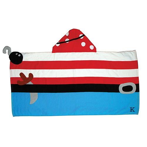 kids-badcape-piraat-met-initiaal