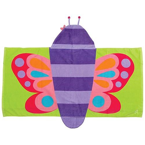 kids-badcape-vlinder-met-initiaal