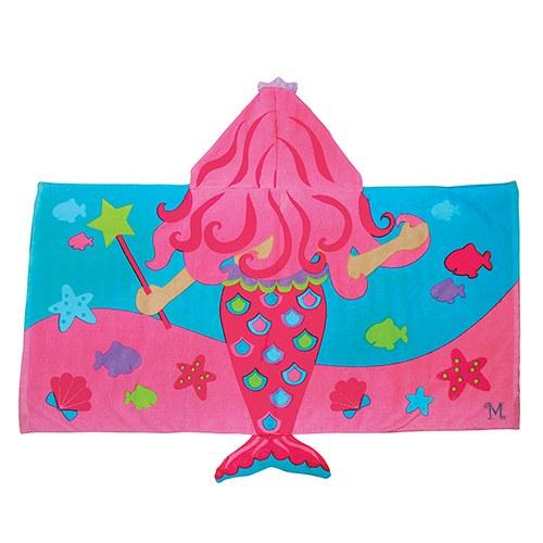 kids-badcape-zeemeermin-met-initiaal