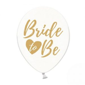 ballonnen-bride-to-be-goud