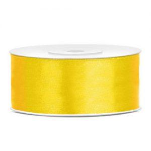 feest-artikelen-satijnlint-25mm-geel