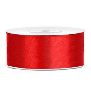 feest-artikelen-satijnlint-25mm-rood