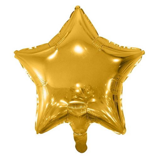 folieballon-golden-star