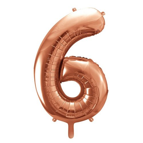 mega-folieballon-rosegoud-cijfer-6
