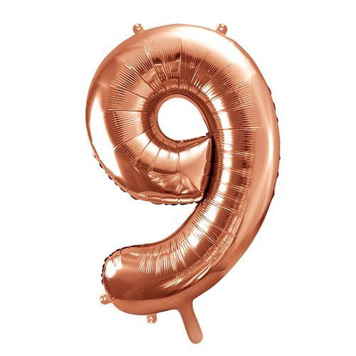 mega-folieballon-rosegoud-cijfer-9
