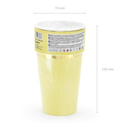papieren-bekertjes-pastel-perfection-geel-2