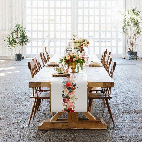 bruiloft-decoratie-tafelloper-botanical-flower-2