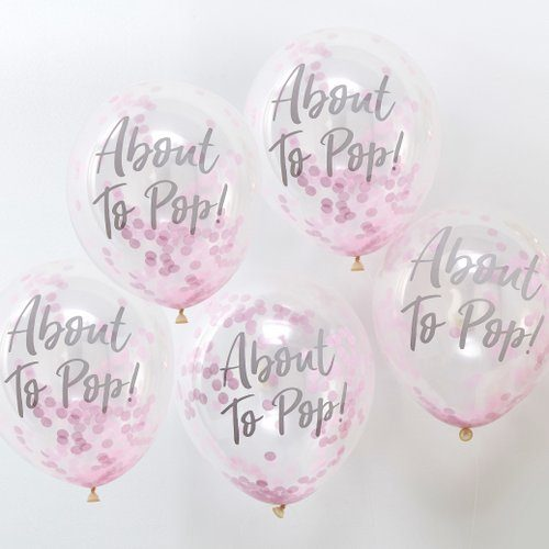 confetti-ballonnen-about-to-pop-roze-oh-baby