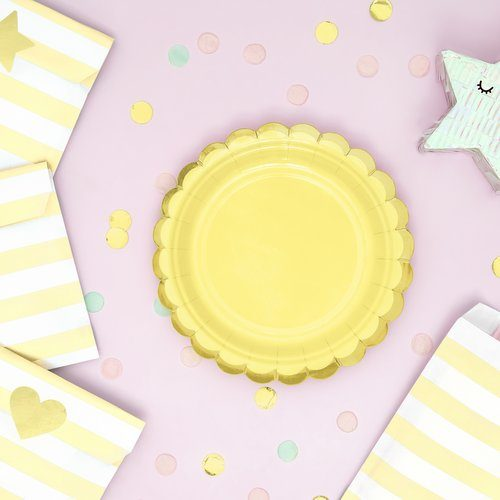 feestartikelen-bordjes-pastel-geel