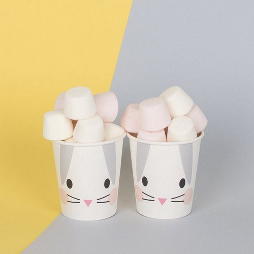 feestartikelen-papieren-bekertjes-mini-rabbit