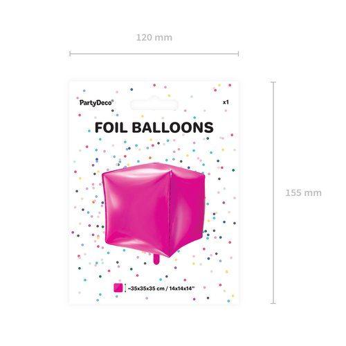 feestartikelen-folieballon-cubic-fuchsia