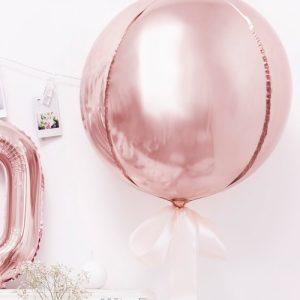 feestartikelen-folieballon-orbz-rosegoud