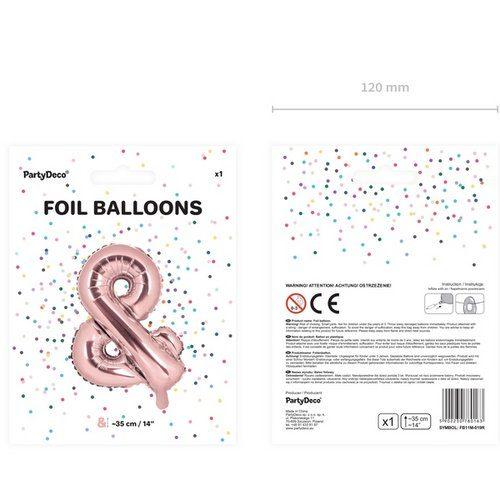 feestartikelen-large-folieballon-rosegoud-&-4