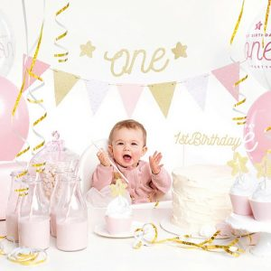 feestartikelen-party-box-first-birthday-pink-gold