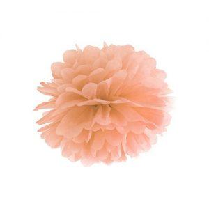 feestartikelen-pompom-peach-25cm