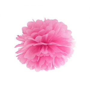 feestartikelen-pompom-roze-25cm