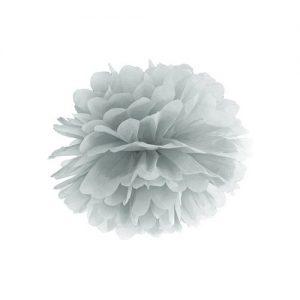 feestartikelen-pompom-zilver-25cm