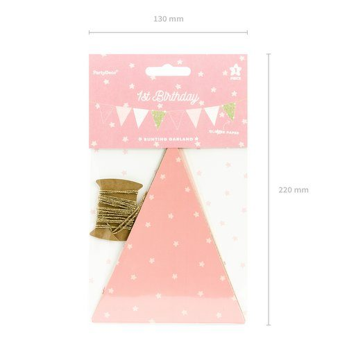 feestartikelen-vlaggetjesslinger-pastel-pink-gold