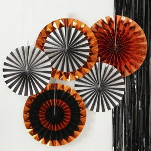 halloween-decoratie-paper-fans-pumpkin-party