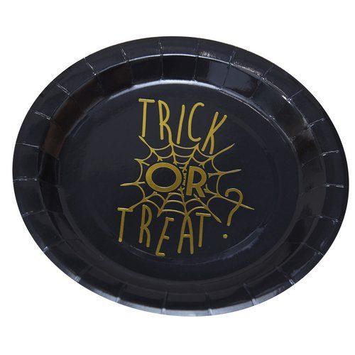 halloween-decoratie-papieren-bordjes-trick-or-treat