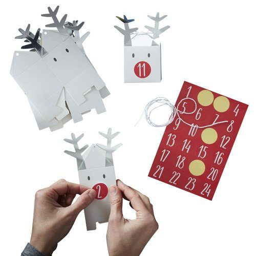 kerstversiering-adventdoosjes-kit-silver-reindeer-christmas-night